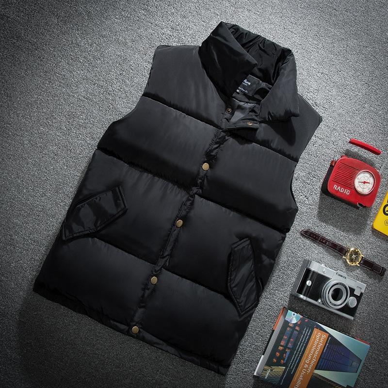 nuMkD 2020 l'autunno e l'inverno caldo gilet caldo uomini giù vestiti di cotone maglia di stile coreano alla moda bello grande formato degli uomini gilet ispessito