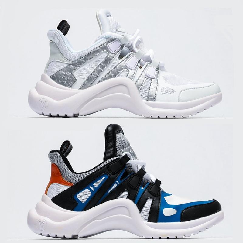 Archlight Sneaker lusso moda Archlight pattini casuali delle donne della scarpa da tennis più nuovi pattini Light Weight colori misti formatori Dad Size 36-40