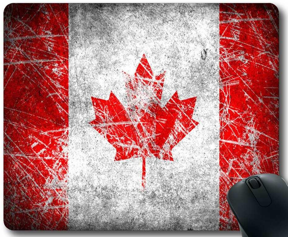Personalizado bandeira de plátano Canadá Retângulo borracha anti-derrapante Mousepad Gaming Mouse Pad