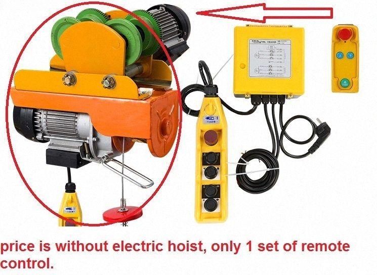 Télécommande sans fil 100M pour treuil électrique avec Hoist chariot électrique mini-treuil PA PA100-1000KG Cptb #