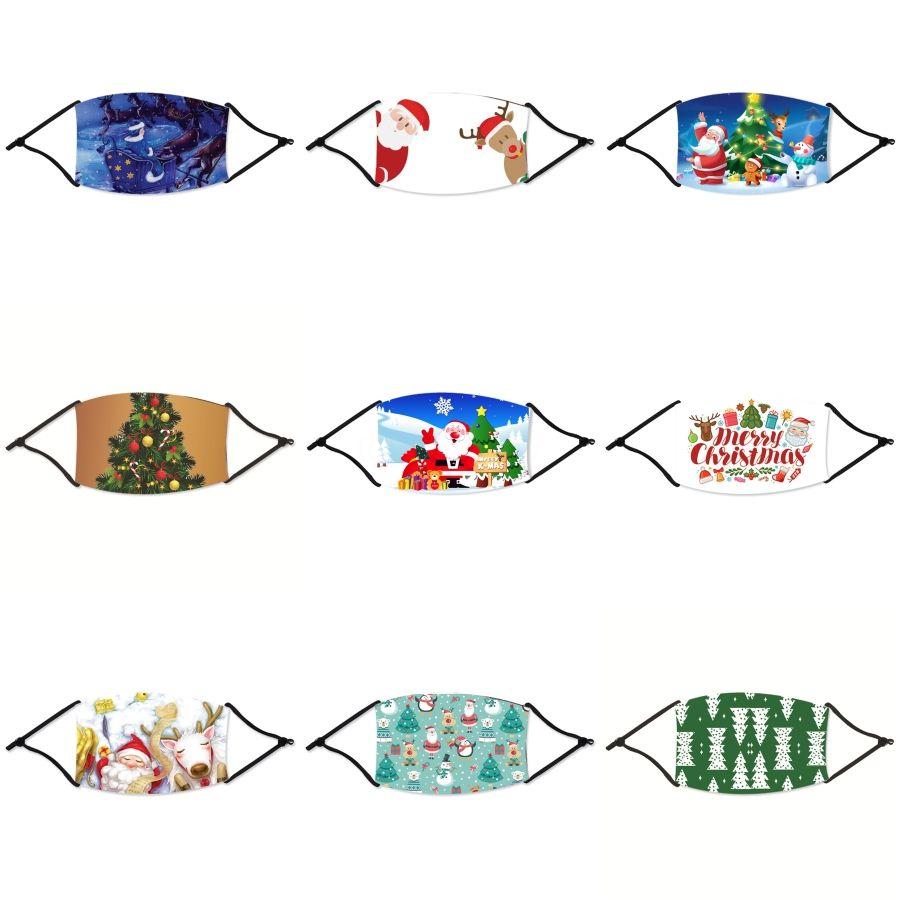 Vana Yüz Noel Nefes 27Styles Nefes Tasarımcı İsa # 156 Anti Toz earloop Ayarlanabilir Baskı Yeniden kullanılabilir Ağız Noel Maskeler Maske