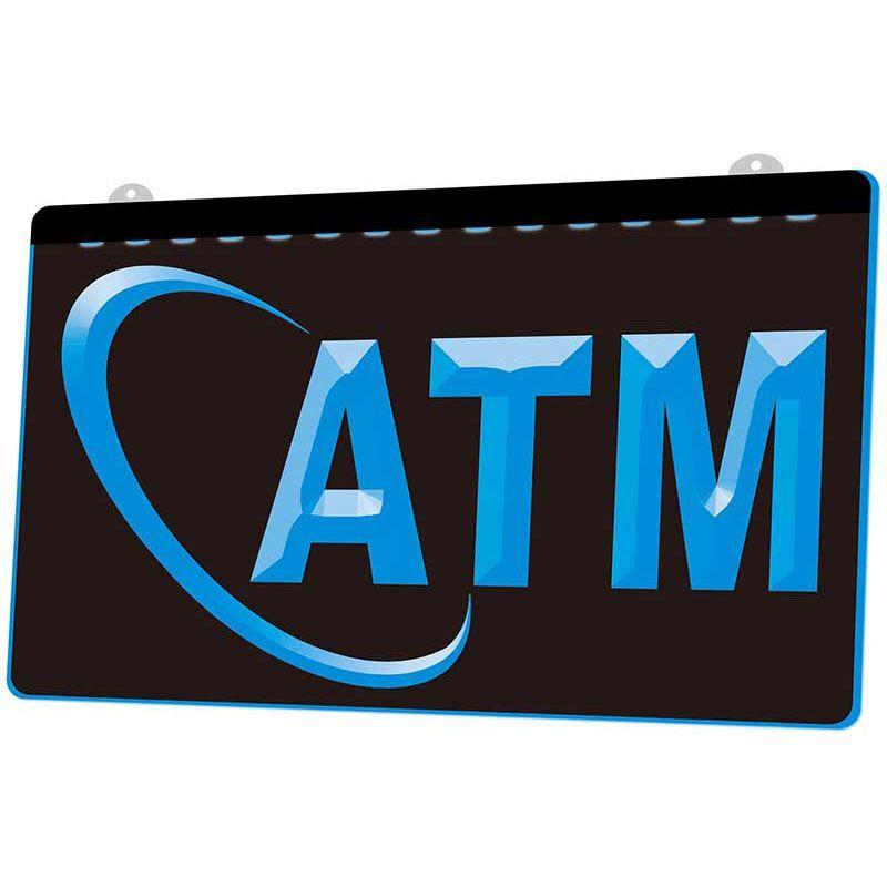 LS078- ATM 돈 기계를 표시 네온 빛 선택 장식 무료 배송 Dropshipping를에게 도매 8 색 서명