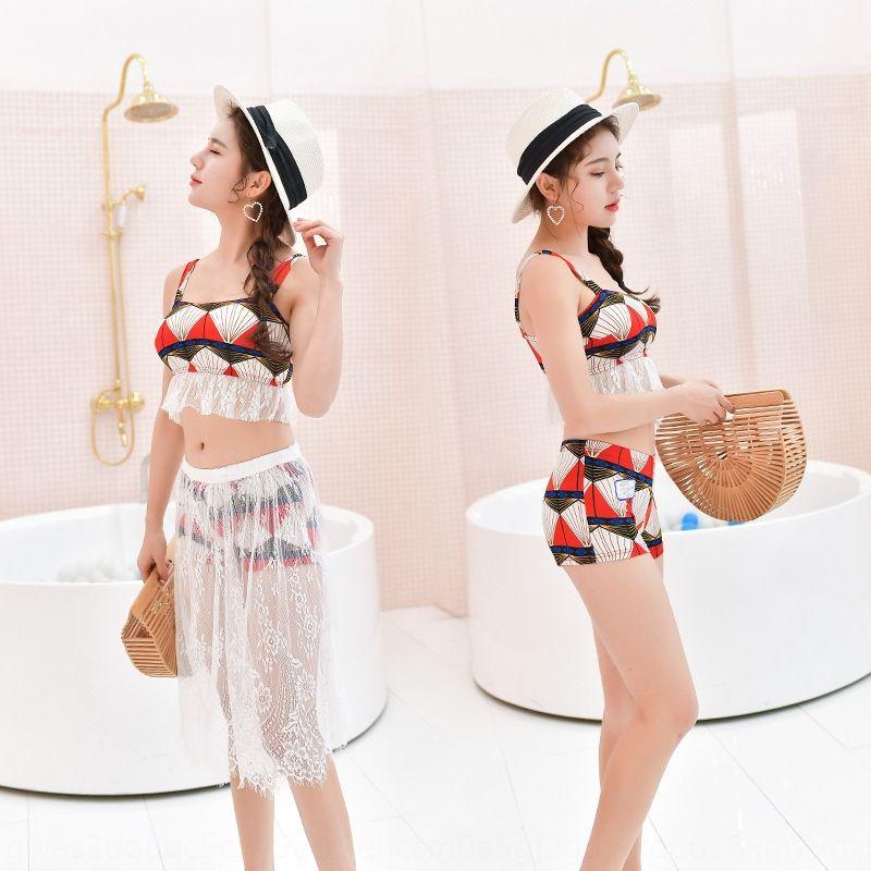 UI9jF primavera nueva Bikini Swim nadar inconformista bikini dividida traje de tres piezas de la mujer con traje de baño atractivo del cordón de la moda de las niñas