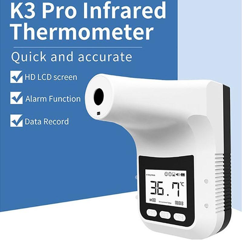 TCT K3 Pro Digital Termometro a infrarossi digitale Termometro elettronico non contatto K3Pro Display LCD a parete per il test della temperatura corporea