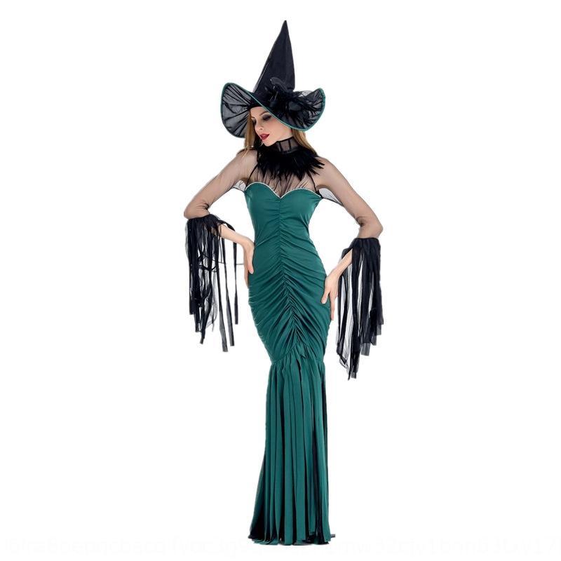 bruja de Halloween nuevo juego de rol ropa Actuando Ropa de escena traje de juego discoteca etapa traje traje de la bruja