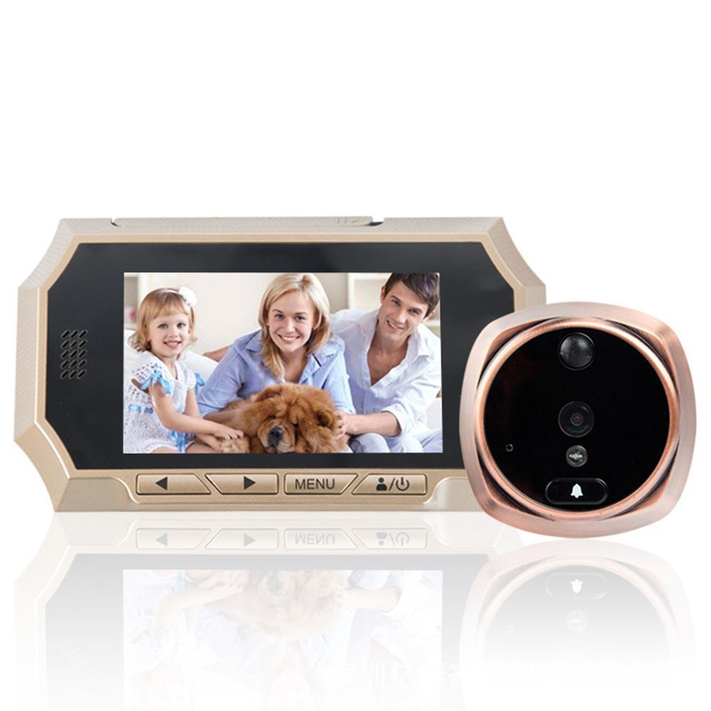 4,3-Zoll-Farbbildschirm Nachtsicht-Kamera Digital-Türklingel 160 Grad Sicherheit
