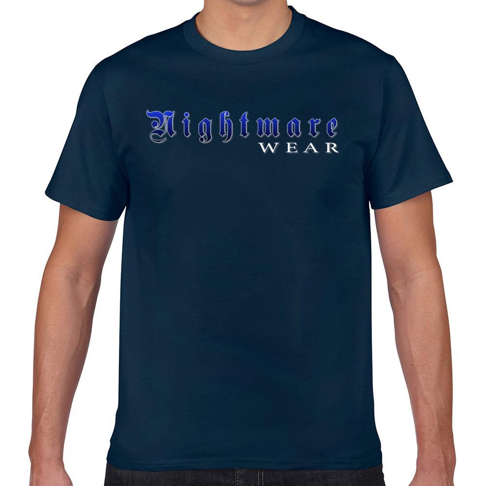 Tops T Shirt Men Pesadelo Wear Logo Comic Inscrições Geek Imprimir masculino camiseta Xxx