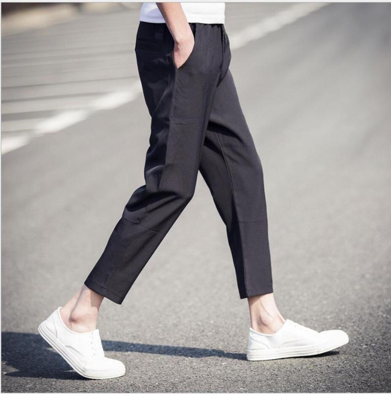 Los nuevos pantalones casuales M-5XL resorte y hombres del verano delgado coreano del harem de la manera de los pantalones del tobillo pantalones de la longitud ropa de talla grande