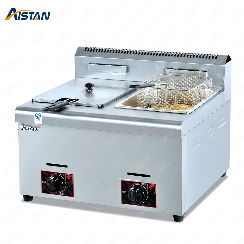 GF71 / GF72 Commerical Gas LGP freidora de papas fritas de pollo frito freidora de aceite con 1 o 2 tanques de acero inoxidable