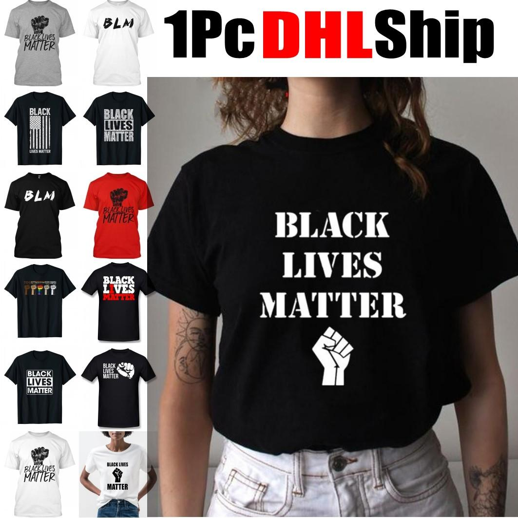 DHL Ship Black Lives Matter Soft Graphic T Shirt BLM Casual Summer T-shirt I Can't Breathe Short Sleeve Tshirt Hip Hop Newest Top Tees