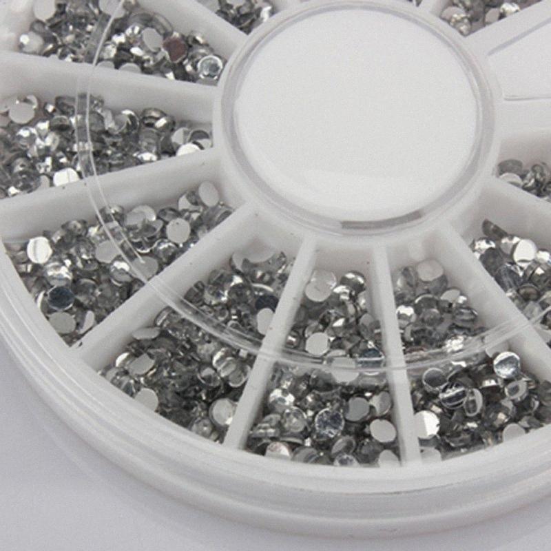 Commercio all'ingrosso 2000 1,5 millimetri libera chiodo trasparente rotonda di scintillio di arte del rhinestone della rotella TnTN #