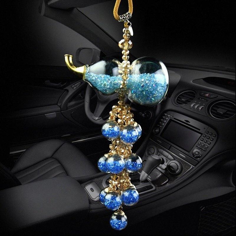 Auto Accessoires Car Подвеска Bling Crystal Gourd Висит аксессуары Украшения Автомобили Интерьер Авто Орнамент ZUPD #