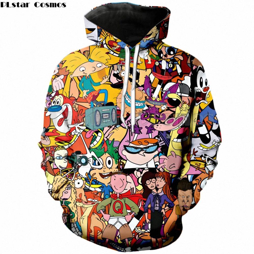 PLstar космос груз падение люди способа Hoodies Cartoon Totally 90-ой 3D Печать Unisex толстовка Streetwear Повседневного Толстовка с капюшоном 3hTd #