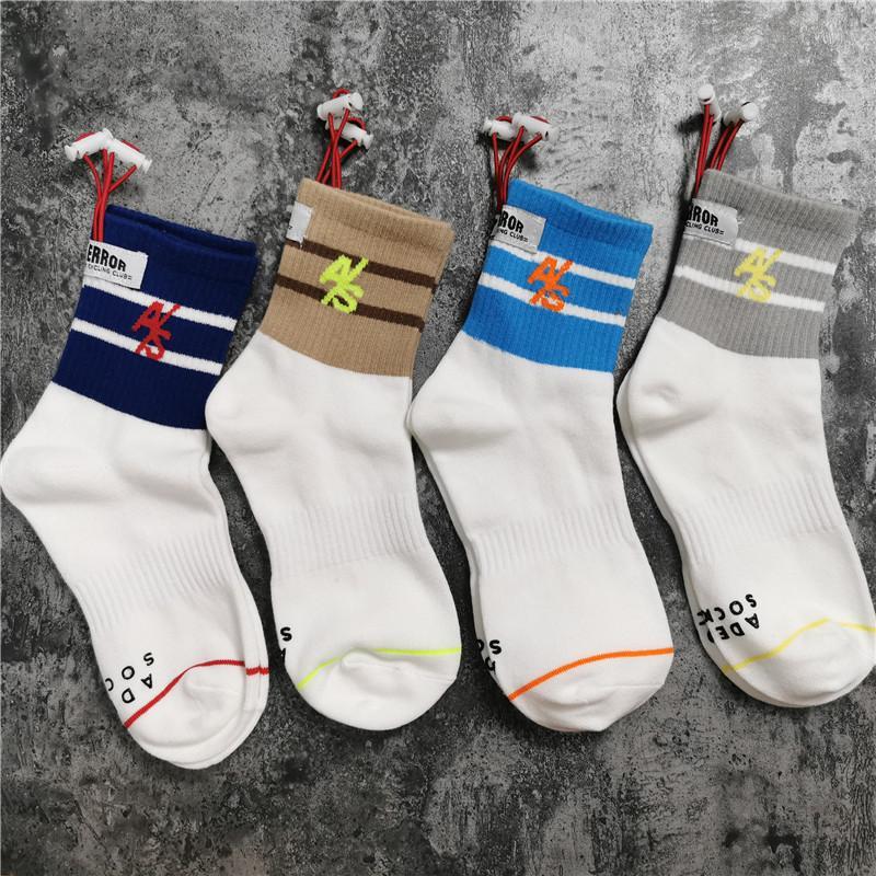 4colors 20ss Socks Socks Women Men Unisex 100% Cotton Basketball Socks