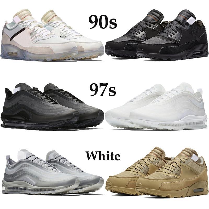 Neue Ankunft 90er Jahre 97s Xwhite Männer Frauen Laufschuhe Schwarze Wüste ORE MENTA Elementale Rose Klassische Trainer Outdoor Sneakers US 5,5-11