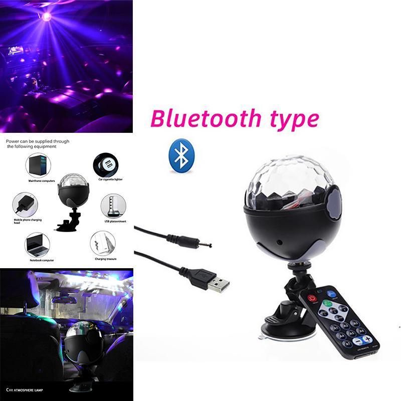 Bluetooth Auto-DJ-Disco-Lichter USB-Minitaschen-Kristall magische Kugel-Laser-Stadiums-Licht-Partei-Stadiums-Licht-Projektor-Lichteffekt