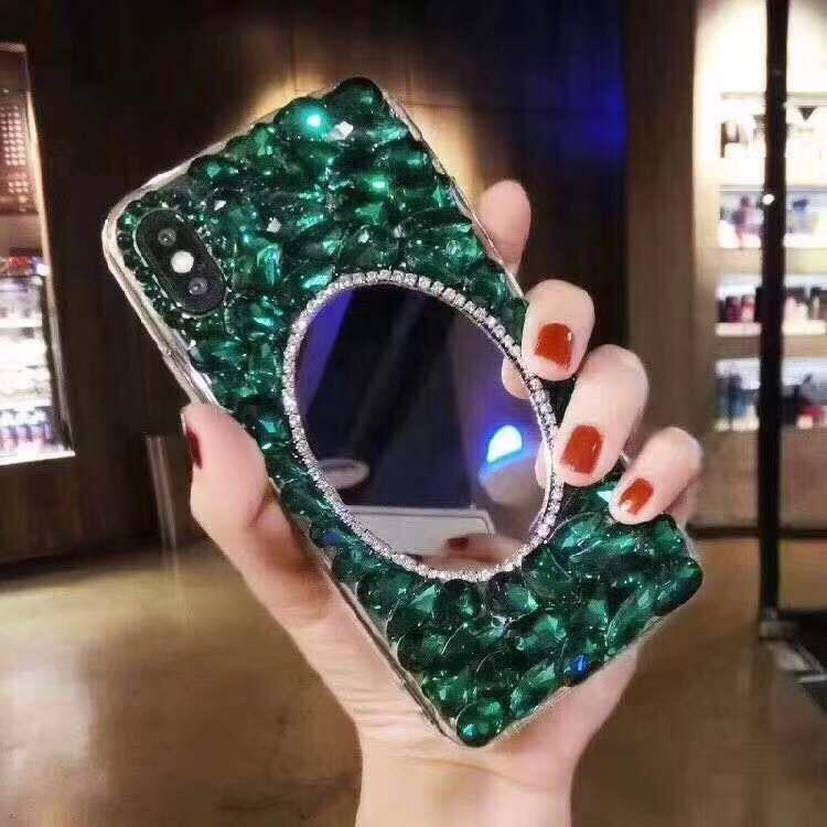 فاخر fundas الماس مرآة القضية حجر الراين بلينغ غطاء الهاتف كوكه لiPhone11Pro XS MAX XR X 8/7 زائد 6S / 6 زائد 2020SE 11