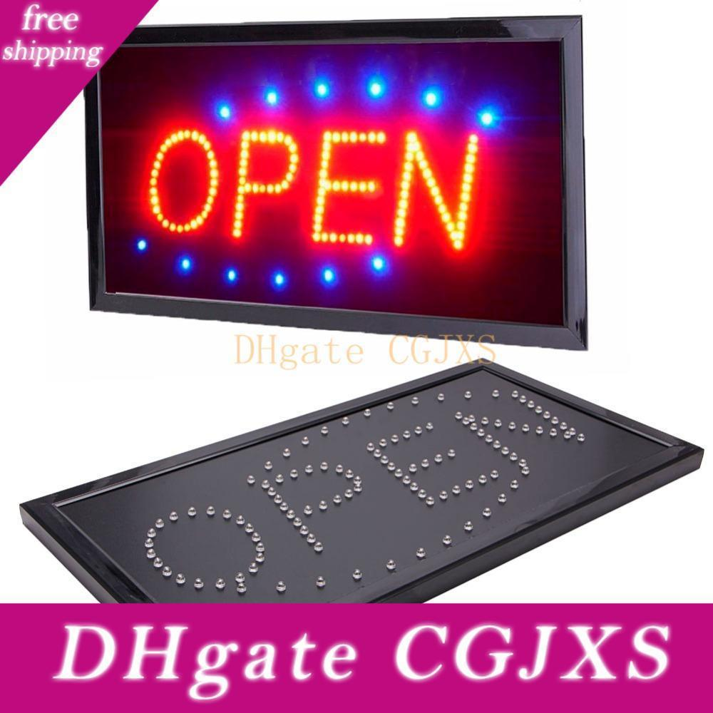 New Bright Animated Motion Running Neon Led Sign Business Store Shop Open Sign With Switch 110v Us Plug