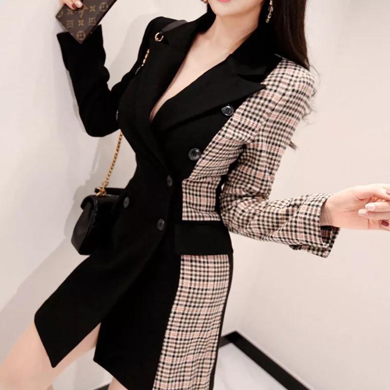 De las n llegada caliente gruesa capa ocasional tendencia mosaico cómoda temperamento aire libre ropa exterior CX200811 chaqueta de alta calidad