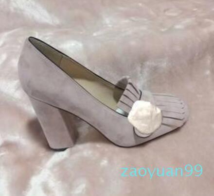 Sıcak Satış-2019 otantik sığır derisi Yüksek kalın topuk ayakkabılar 34-42 toka tekne ayakkabı ilkbahar sonbahar Seksi Bar Ziyafet kadın Ayakkabılar 10cm metal topuklu