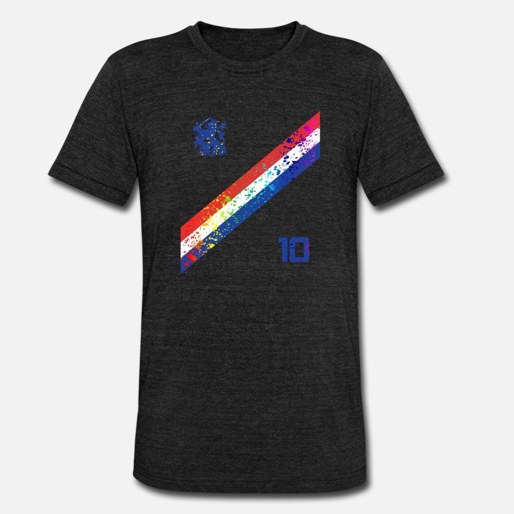 Nederland Fußball-Jersey-Fußball-Farben-Spritzer-T-Shirt Männer Entwurf Baumwolle plus Größe 3xl Brief Geschenk neue Art und Weise Sommer-Art einzigartigen Hemd
