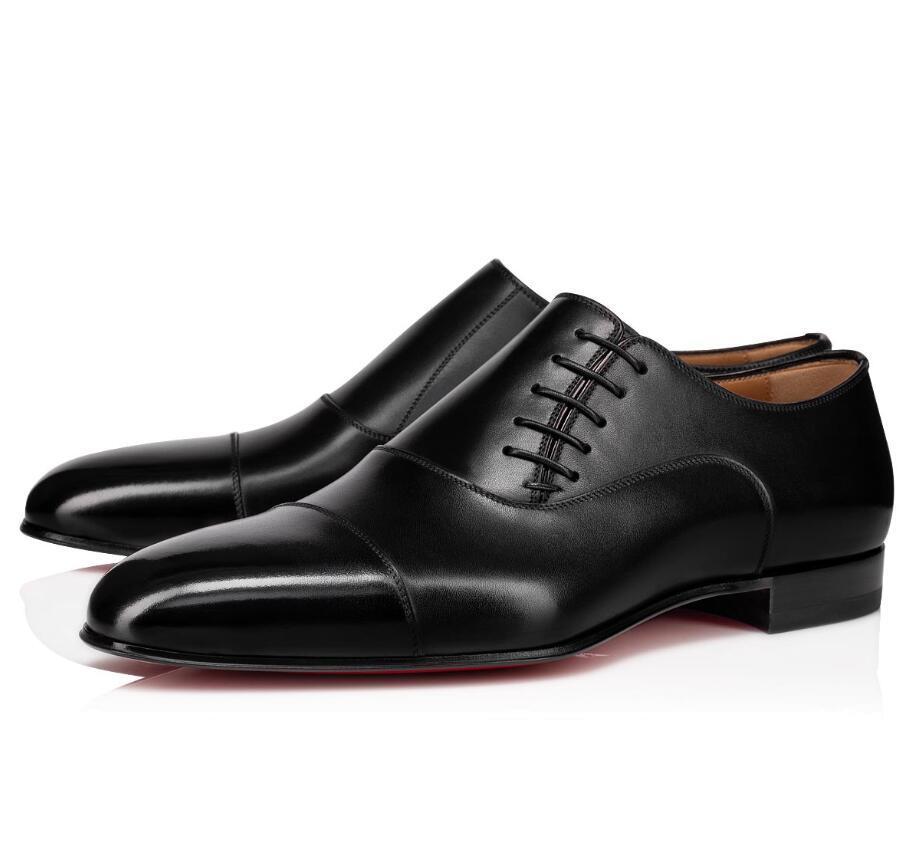 Популярные Greggo Доктор Джек Oxfords тапки квартира, люкс Джентльмен с красной подошвой Обувь для платья венчания партии Совершенная бездельников коричневый, черный EU35-47
