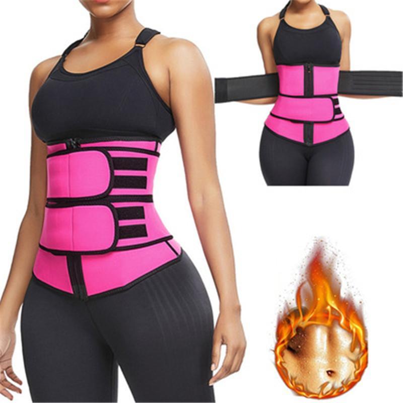 ABD STOK Erkekler Kadınlar Şekillendiriciler Bel Trainer Kemer Korse Göbek Zayıflama Shapewear Ayarlanabilir Bel Desteği Vücut Şekillendiriciler