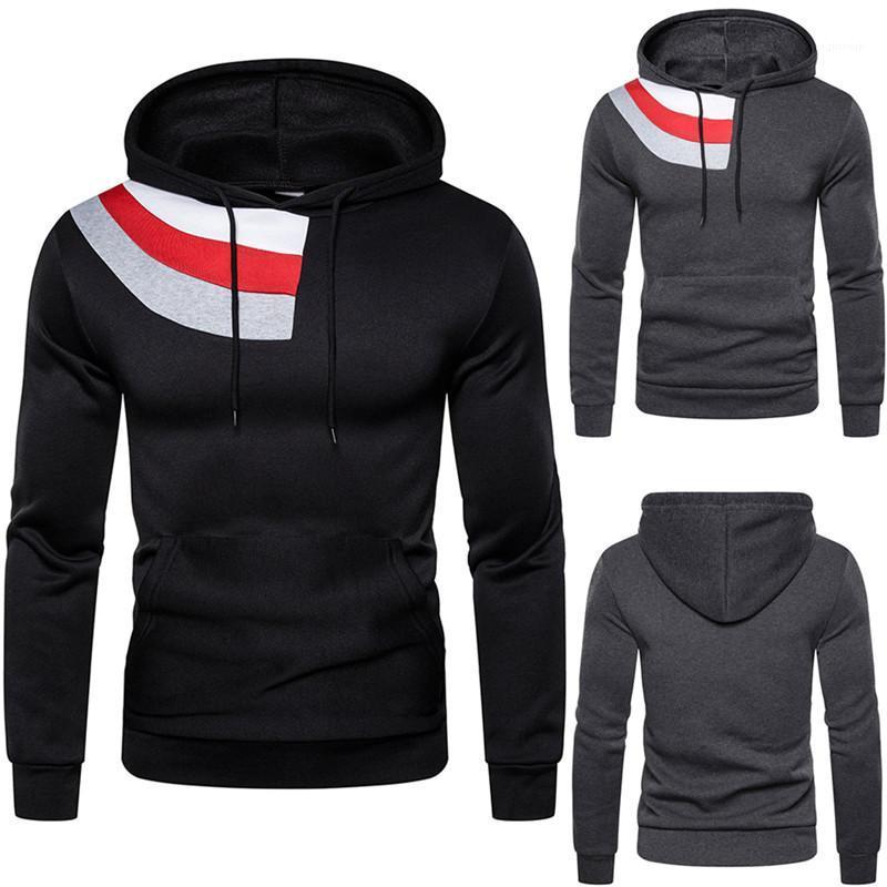 Bekleidung Herbst Winter Herren Designermode Pullover mit Kapuze Ausschnitt Langarm große Tasche Sweatshirts beiläufige Mens