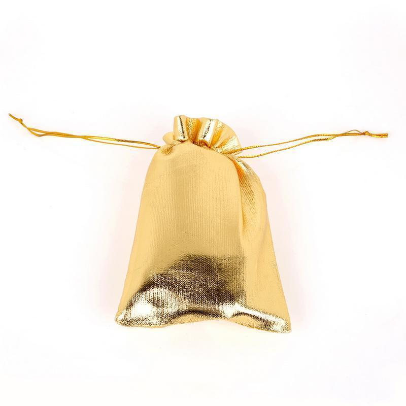 Sacchetti regalo Candy Gold Foil Organza Bag 4 Superficie festa di nozze favore il sacchetto della decorazione di Natale Packaging Borse sacchetto di organza regalo della caramella