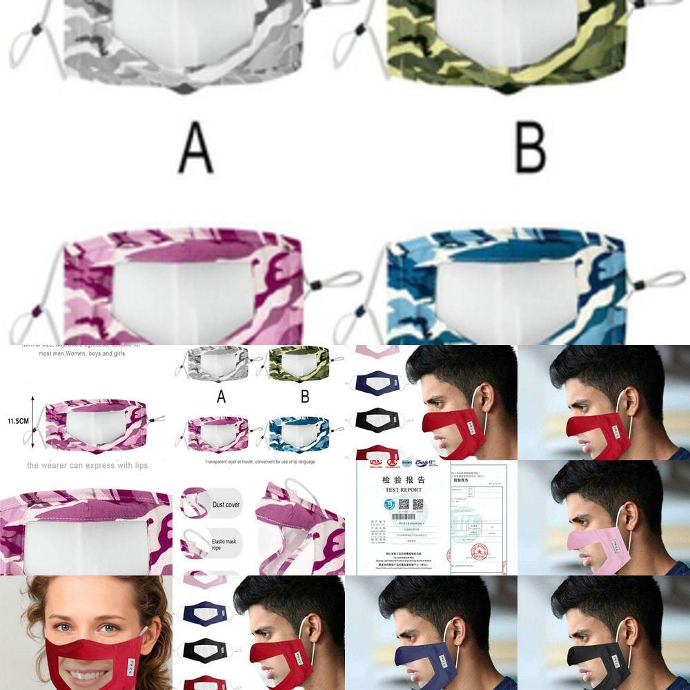 Pvc Janela G4MI IQUX Fashionmia United crianças para o Com Limpar Máscara Venda Máscaras reutilizáveis Deaf Ki