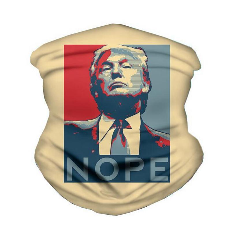 YYA447 máscara máscaras faciales Pañuelo Trump American President Trump Elección del pañuelo a prueba de polvo de ciclo del partido Headwear de la bufanda mágica al aire libre