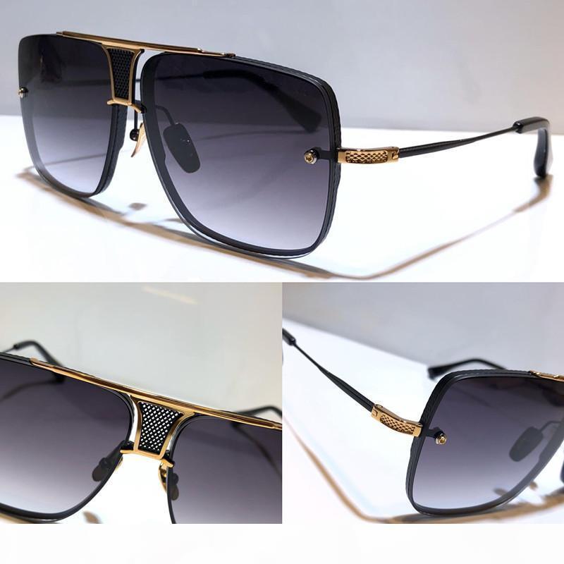 Yeni güneş gözlüğü erkek tasarımcı metal Retro güneş gözlüğü moda stil kare çerçevesiz UV 400 lens açık koruma gözlük DEAGBE