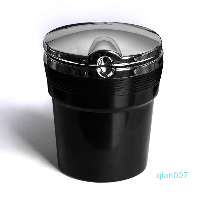 Automobile Trash Cigarettes Holder With LED Lights And Lid Plastic Mulitcolor Ashtray Creative Holders Gadgets Hot Sale 6 4bs E1