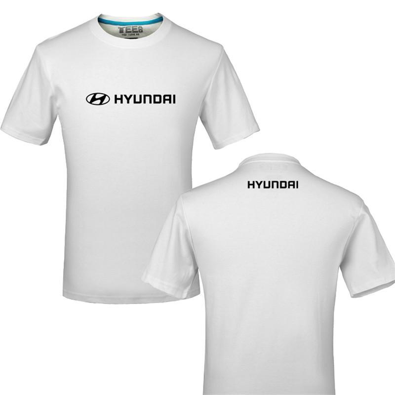 2020 Brand Tshirts Funny Hyundai logo 100% Cotton Printing T-shirt Unisex Summer Casual T Shirt Tees shirt