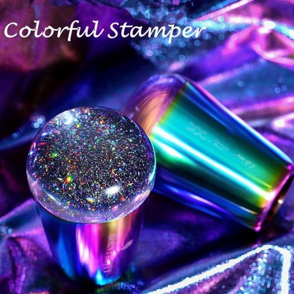Prego colorido Stamper Arte Titanium prego Estampagem impressão Manicure Art Gradiente Stamper Ferramenta Nail Art maquiagem cabelo Ferramentas Estampador De Unas