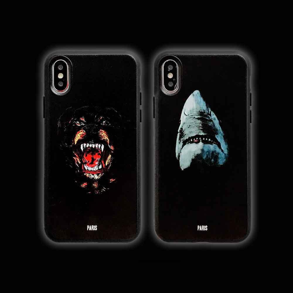 Teléfono móvil forme la caja 11Pro Max / 11Pro / X / X XR XSMax 7P / 8p 8/7 / 6s / 6 / 6p clásica de alta calidad caja de IPhone Impreso perro Fidelidad / Shark
