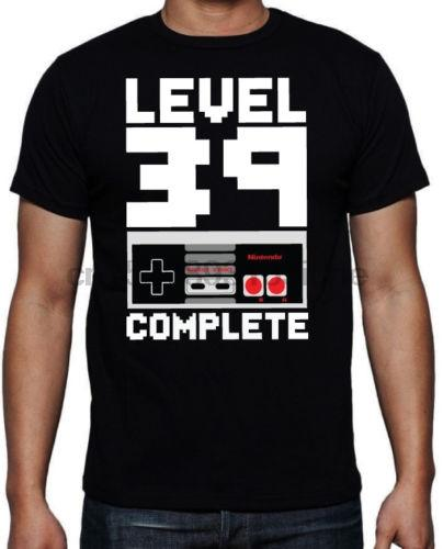 40e anniversaire Niveau 39 complet Arcade Video Fils Jeu cadeau Présent T-shirt noir