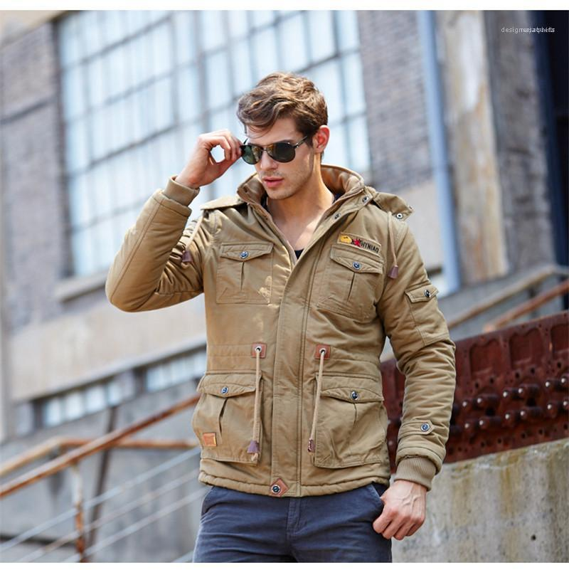 سحاب الشتاء الرجال معطف الصوف الصلب مصمم أزياء مقنع الرجال السترات عارضة ذكر فضفاض ملابس مع