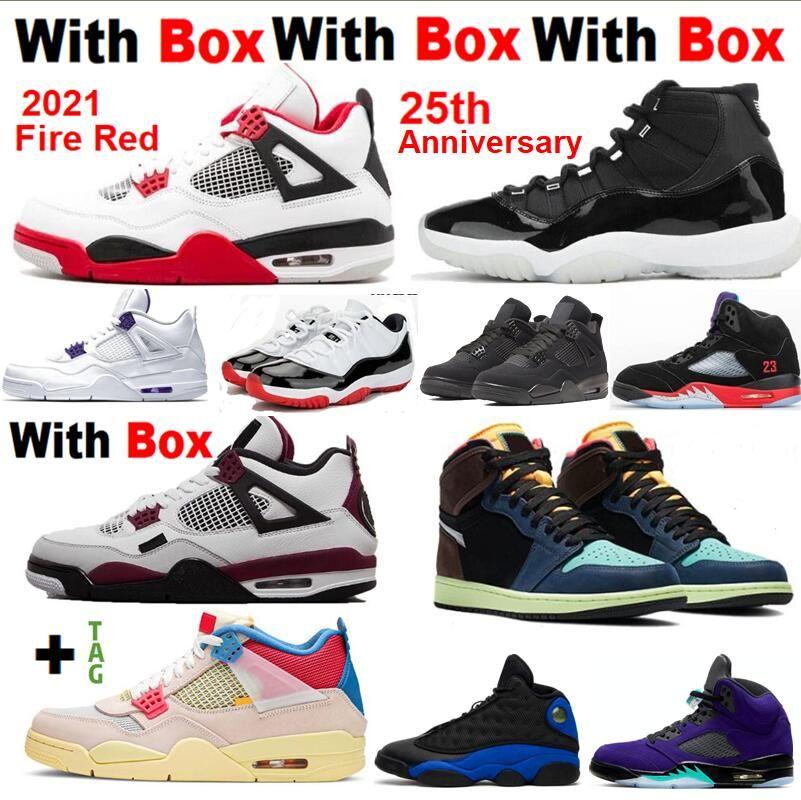 Novo 2021 bio hack 1s 4 fogo vermelho 4s com caixa 11 25º aniversário 5 quais os 4 11s sapatos de basquete homens homens