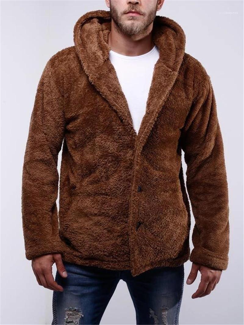 Con cappuccio a maniche lunghe cappotto casual Abbigliamento Uomo Primavera del progettista del Mens Jackets Fashoin Casual Style Reversible Fur