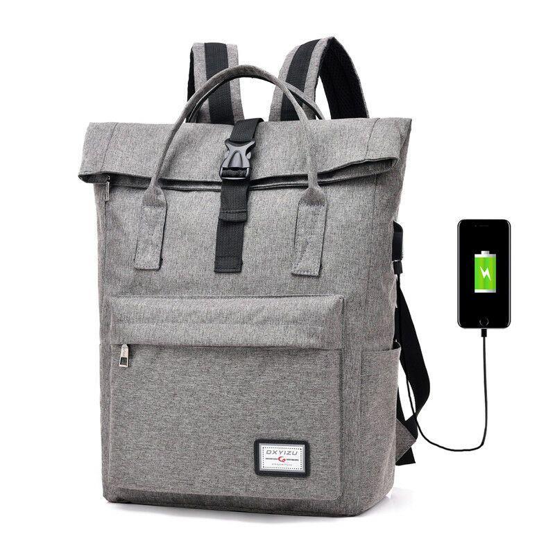 Büyük Kapasiteli dizüstü sırt çantası, USB şarj ile büyük kapasiteli okul sırt çantası, kadın kanvas sırt çantası