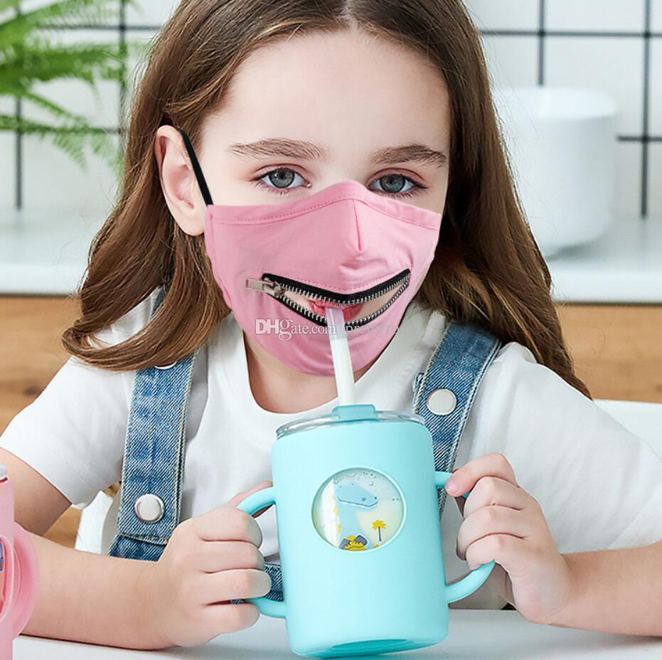 En satıcı Yaratıcı Fermuar Yüz Çocuk atari Yıkanabilir Yeniden kullanılabilir Örtü Koruyucu Tasarımcı yüz Maskesi içmeye Fermuar Tasarım Kolay Maske