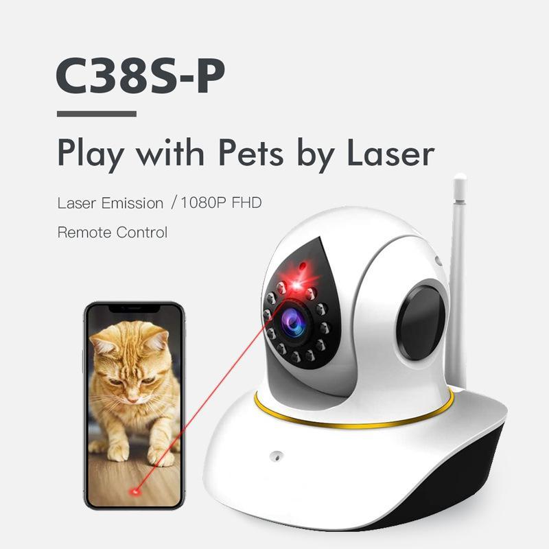 Multifunctional Wireless Wifi Surveillance Camera AI Smart Network Pet Surveillance Camera Monitor Day and Night