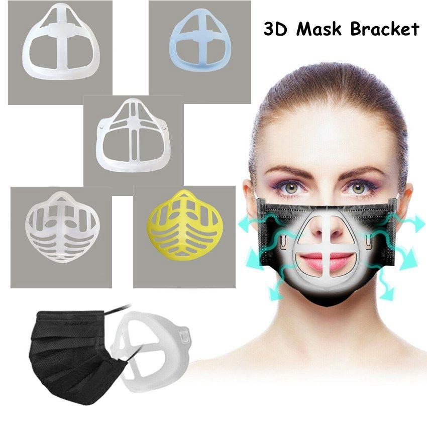 3D Máscara de soporte 6 Estilos reutilizable de protección labial ayuda del soporte del interior de la nariz Aumentar Breathing Space Boca de la cubierta 300pcs titular CCA12487