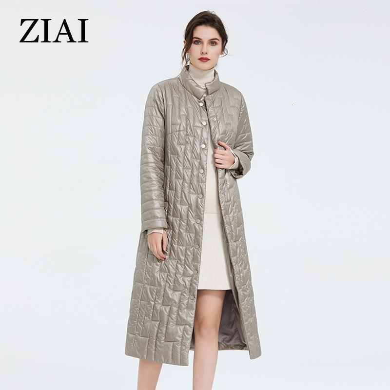 ZIAI 2020 women jacket winter autumn long warm collar Placket button Comfortable Windproof coats for office lady outwear ZM-7215