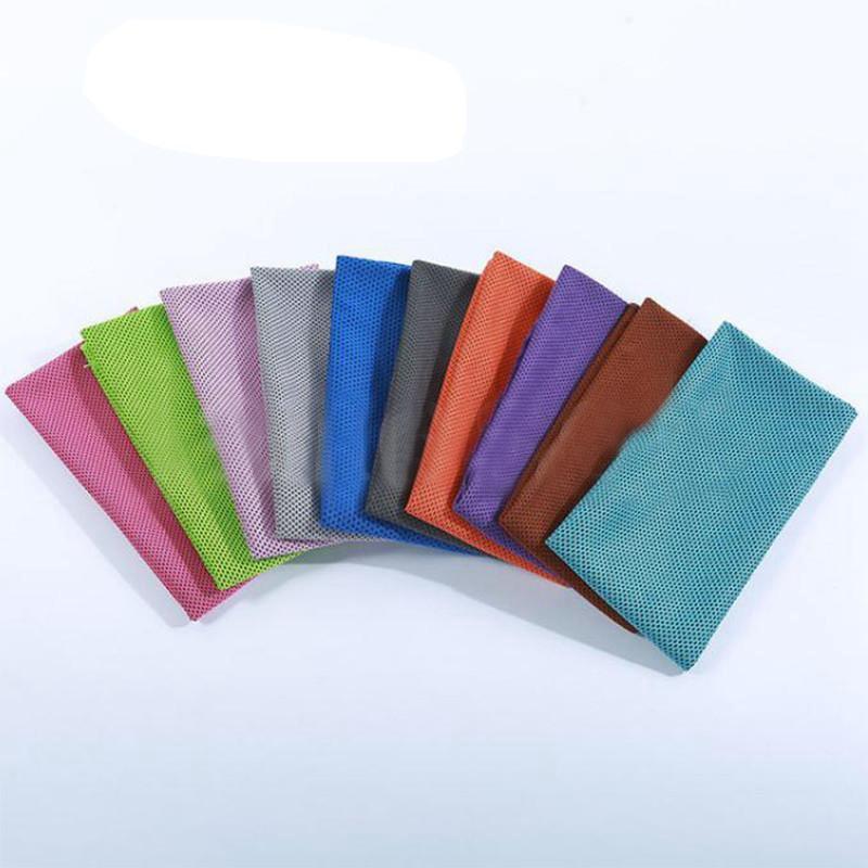 Ice Sports Towel sensazione di freddo all'aperto Esercizio di raffreddamento del ghiaccio assorbimento del sudore del tovagliolo multi colori Fitness Towel IIA524