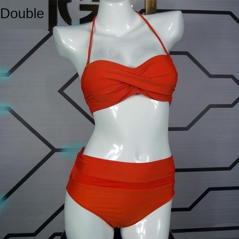 wj8gg Нажмите новый складной мешок живота покрывающих раздвоение нейлон купальник бикини бикини женщин купальник низкая цена