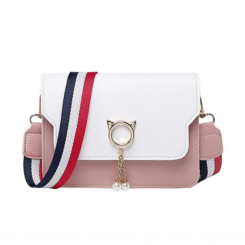 saco da forma bolsa de ombro crossbody pequeno quadrado ombro largo quadrado pequeno 2020 Outono coreano estilo estrela mesmos Pu das mulheres cinta