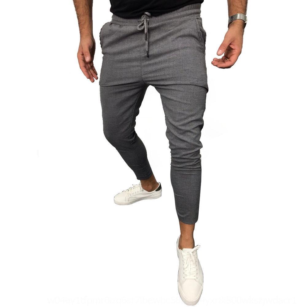 2020 Летний новый шнурках твердые повседневные случайные цвета беговые брюки спортивные брюки укороченные HyPiV