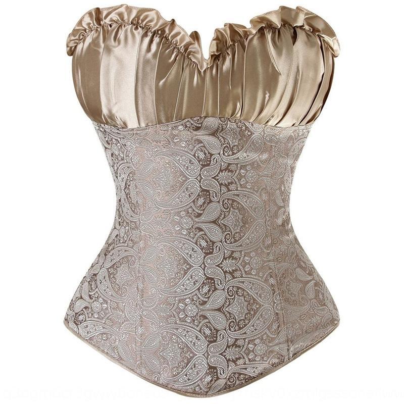 Ma95B cuerpo ropa Fajas juego atractivo de la ropa interior que forma la tapa superior modeladoras palacio corsé de la cintura del cuerpo flor conformación